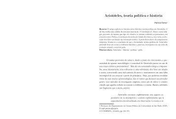 Aristóteles, teoria política e história - fflch - USP