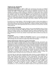 TERMOS DE USO / RESTRIÇÕES O QUE VOCÊ DEVE ... - RCI.com