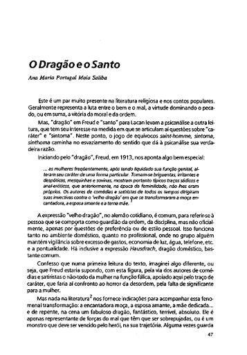ODragão e o Santo - Escola Letra Freudiana