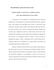Mesa Redonda: a psicose de Freud a Lacan - Laboratório de ...
