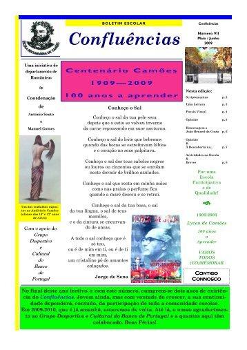 Confluências Nº 7 - Maio/Jun. 2009 - Escola Secundária de Camões