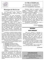 edição especial dezembro 2006 - Associação Espírita Fraternal
