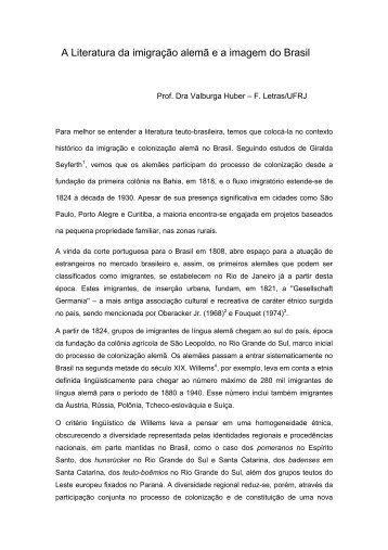 Prof. Dra Valburga Huber - Faculdade de Letras - UFRJ