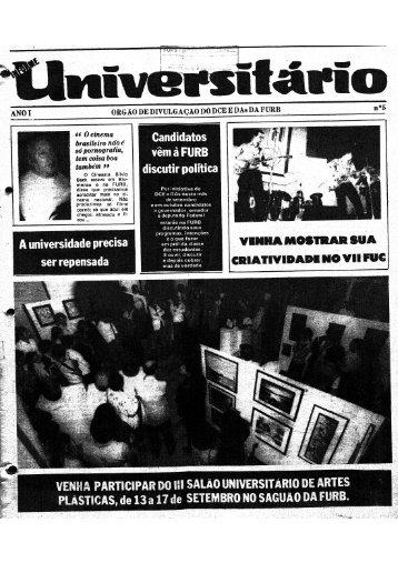 Informe Universitário - Ano I - Biblioteca - Furb