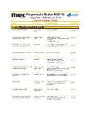 Programação Musical MEC FM - Rádio MEC