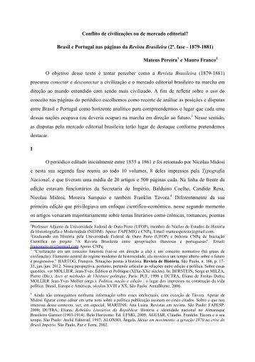 Brasil e Portugal nas páginas da Revista Brasileira - IEL