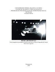 MÚSICA DE FESTIVAL: - Arte, Cultura e Sociedade na América ...