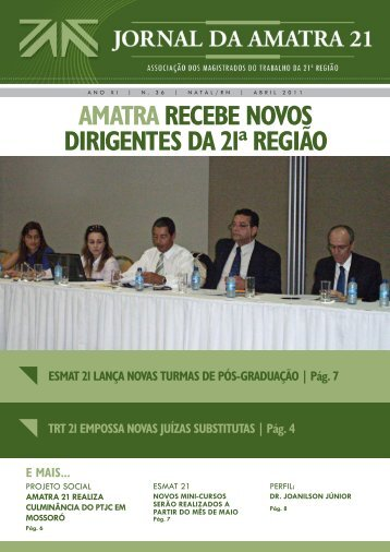 Jornal AMATRA 21 nº 36