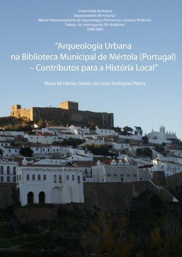 Arqueologia Urbana na Biblioteca Municipal de Mértola (Portugal ...