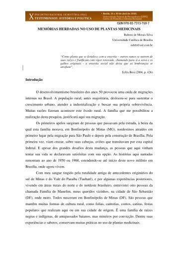 Download do Trabalho - X Encontro Nacional de História Oral ...