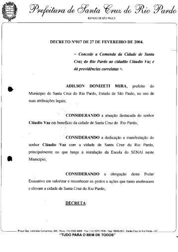 LF - 2004 - Câmara Municipal de Santa Cruz do Rio Pardo