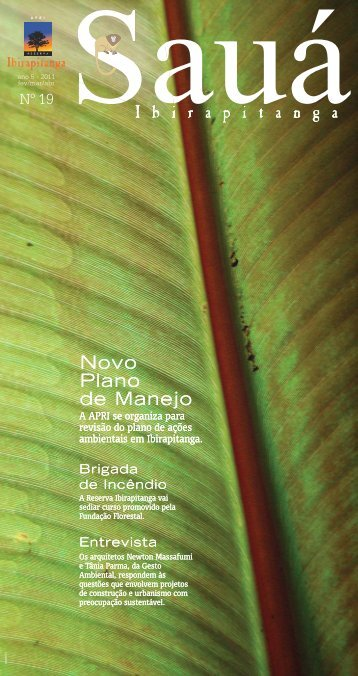 Revista Sauá Ibirapitanga n 19 - Reserva Ibirapitanga