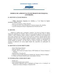 modelo de apresentação de projeto de pesquisa - Proppi - UFF