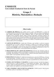 UNIOESTE Grupo 3 História, Matemática e Redação