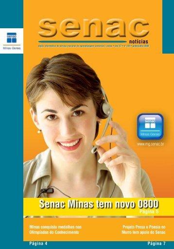 Senac Minas tem novo 0800 - Senac Minas Gerais