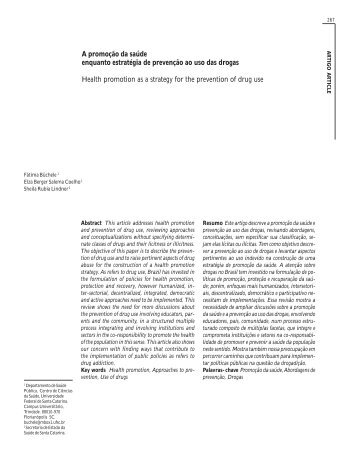 A promoção da saúde enquanto estratégia de prevenção - SciELO