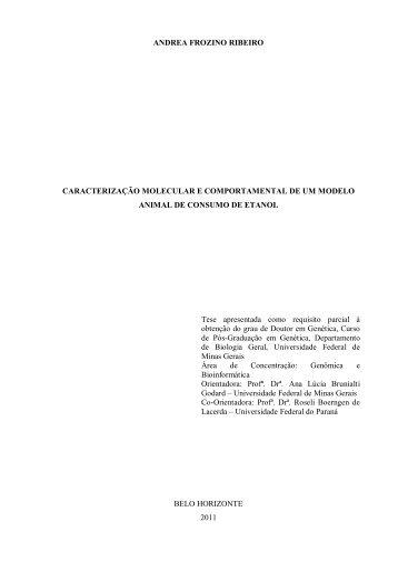 ANDREA FROZINO RIBEIRO CARACTERIZAÇÃO MOLECULAR E ...