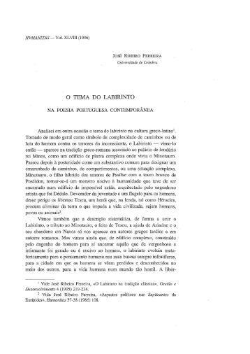 O tema do labirinto na poesia portuguesa contemporânea