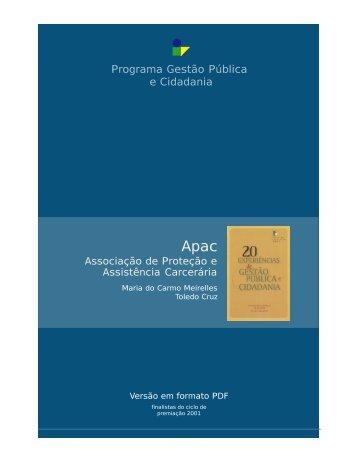 Associação de Proteção e Assistência Carcerária - Apac - FGV-Eaesp