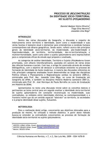 processo de (re) - Nucleo de Humanidades - Ufma