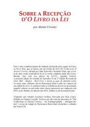 SOBRE A RECEPÇÃO D'O LIVRO DA LEI por Aleister Crowley