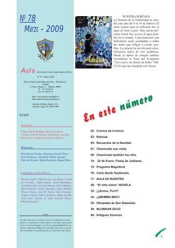 AULA marzo 09.pdf - Colegio Santa María del Pilar