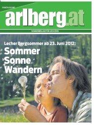 Arlberg-Zeitung: Vorschau Sommer