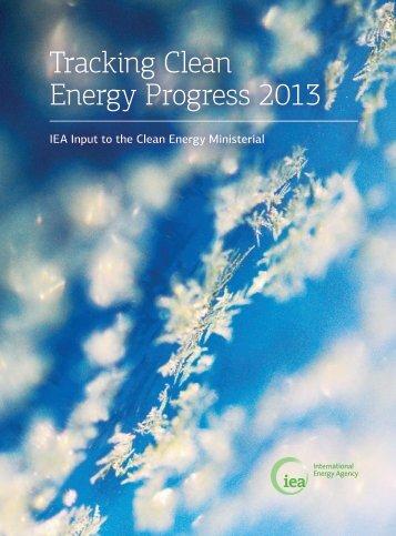 Tracking Clean Energy Progress 2013