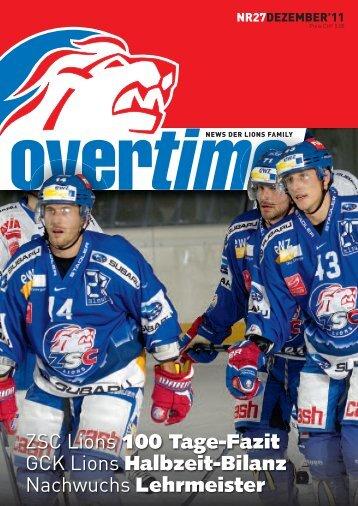 Overtime Magazin Nummer 27 (Dezember 2011) - ZSC Lions