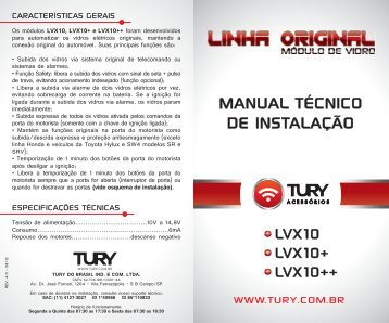 manual lvx10/lvx10+/lvx10++ - Tury