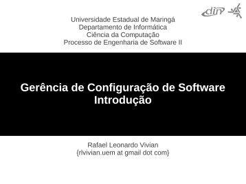 Gerência de Configuração de Software Introdução - ao ...