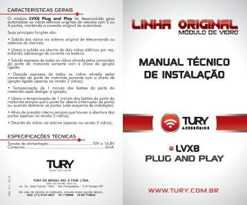 MANUAL LVX8 Plug and Play - Tury