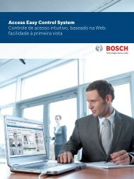 Access Easy Control System Controle de acesso intuitivo ... - Bosch