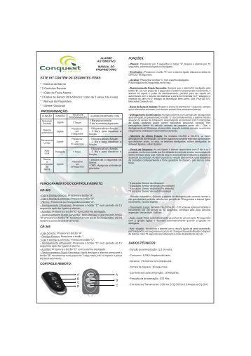 Download do Manual - Conquest Alarmes