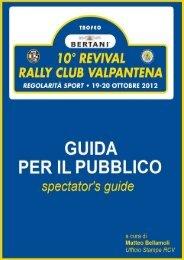Guida dello spettatore - Rally Club Valpantena