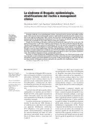 La sindrome di Brugada: epidemiologia, stratificazione del ... - Veris srl
