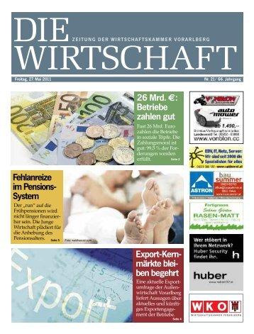 Die Wirtschaft Nr. 21 vom 27. Mai 2011