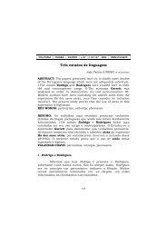Três estudos de linguagem - UFMT