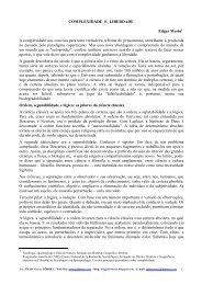 COMPLEXIDADE E LIBERDADE Edgar Morin A ... - Juliotorres.ws