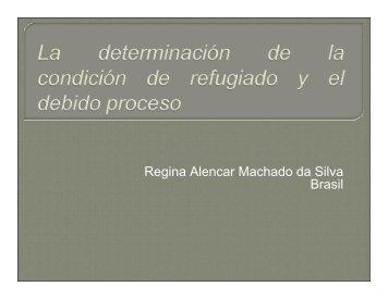 Regina Alencar Machado da Silva Brasil - Acnur