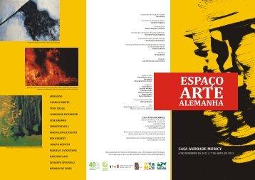 """A exposição """"Espaço Arte Alemanha"""" - Casa Andrade Muricy"""
