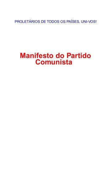 Manifesto do Partido Comunista - Partido Comunista Português