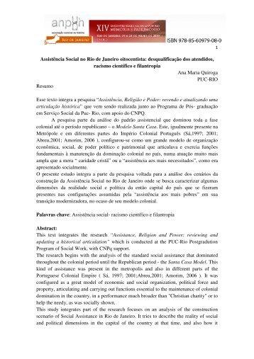 Ana Maria Quiroga - XIV Encontro Regional de História - ANPUH-Rio