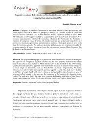 Expansão e ocupação do território: conflitos fundiários e mercado ...