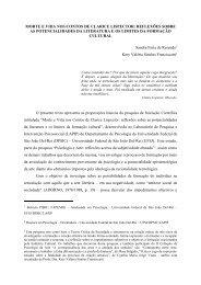 Morte e Vida nos Contos de Clarice Lispector: reflexões sobre as ...