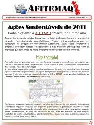 Ações Sustentáveis de 2011 - a afitemaq