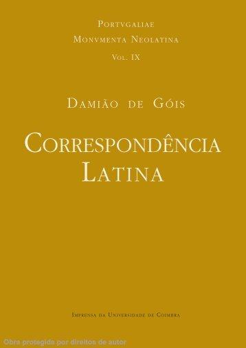 CorresPonDênCia latina - Universidade de Coimbra