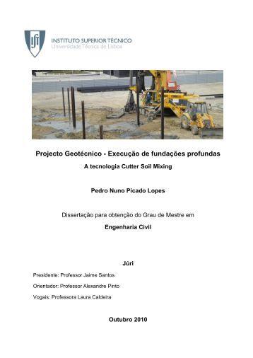 Solução de fundações profundas - A técnica Cutter Soil Mixing