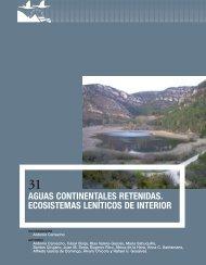 31 Aguas continentales retenidas. Ecosistemas leníticos de interior