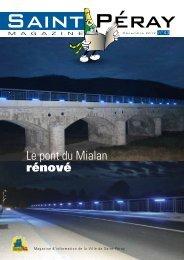 Le pont du Mialan rénové - Saint-Peray